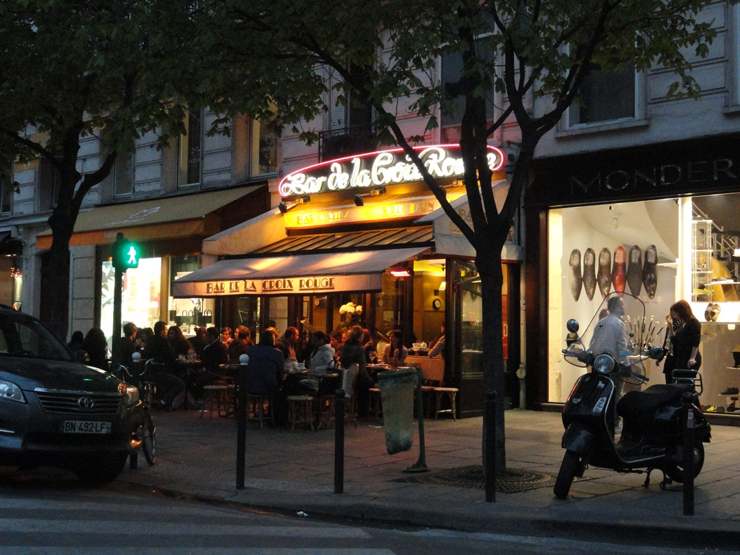 Our favorite cafe, near Saint Sulpice - April 2012